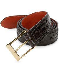 Saks Fifth Avenue - Crocodile-embossed Leather Belt - Lyst