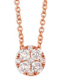 Le Vian - 14k Strawberry Gold And Vanilla Diamond Circle Pendant Necklace - Lyst
