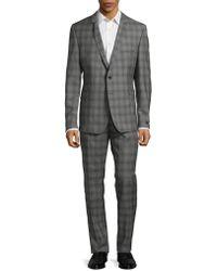 Strellson - Slim Shadow Plaid Suit - Lyst