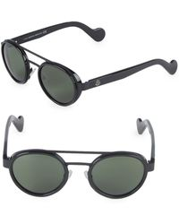 Moncler - 50mm Round Sunglasses - Lyst