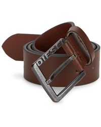 DIESEL - Embossed Leather Belt - Lyst