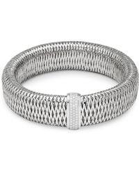 Roberto Coin - Diax White Gold & Diamond Bracelet - Lyst