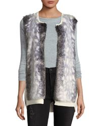NYDJ - Winter Faux Fur Vest - Lyst