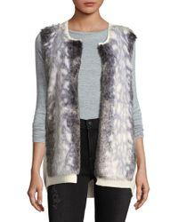 NYDJ - Winter Faux Fur Vest - Lyst
