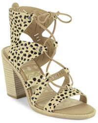 Dolce Vita - Luci Leather Cutout Ghillie Lace Sandals - Lyst