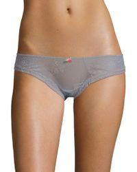 Eberjey - Embroidered Bikini Panty - Lyst