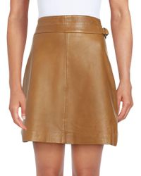 French Connection - Leather Regular-fit Skirt - Lyst