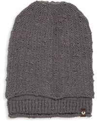 True Religion - Ribbed Cuff Hat - Lyst