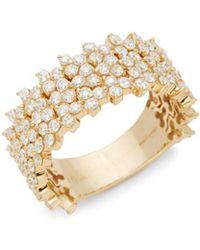 Hueb - Reverie 18k Gold & Diamond Statement Ring - Lyst