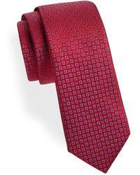Saks Fifth Avenue - Geometric-pattern Silk Tie - Lyst