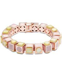 Eddie Borgo - 12k Rose Gold-plated Mosaic Cube Bracelet - Lyst