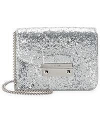 3ad19b2b4206 MICHAEL Michael Kors Mini Amor Glitter Shoulder Bag in Metallic - Lyst