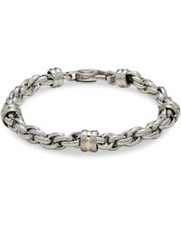 Saks Fifth Avenue - 14k Gold Silver & Stainless Steel Link Chain Bracelet - Lyst