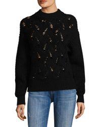 Rebecca Taylor - Embellished Wool-blend Sweater - Lyst