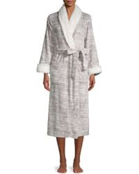 Carole Hochman - Faux-shearling Trimmed Bathrobe - Lyst