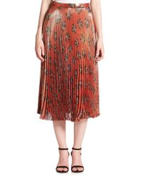 SUNO - Pleated Midi Skirt - Lyst