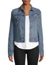 Hudson Jeans - Point Collar Denim Jacket - Lyst