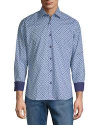Bertigo - Dots Cotton Button-down Shirt - Lyst