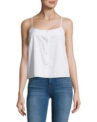Equipment - Perrin Striped Cotton Camisole - Lyst