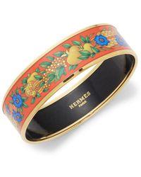 Hermès - Vintage Harvest Goldtone Bangle Bracelet - Lyst