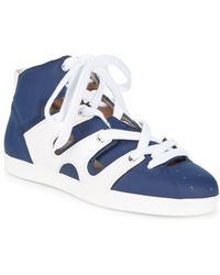 Emporio Armani - Leather Sneakers - Lyst