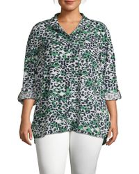 c45b7d9279 Beach Lunch Lounge - Plus Leopard-print Long-sleeve Shirt - Lyst
