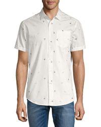 Report Collection - Sunglass-print Cotton Button-down Shirt - Lyst
