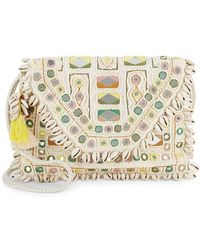 Antik Batik - Fringed Trim Cotton Shoulder Bag - Lyst