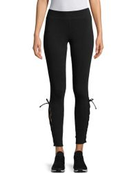 Andrew Marc - Lace-up Leggings - Lyst