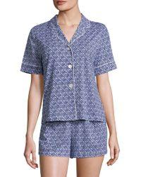 Saks Fifth Avenue - Modern-fit Knit Short Pajamas Set - Lyst