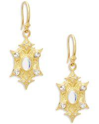 Armenta - Sueno Diamond, Sapphire, Rainbow Moonstone And 18k Yellow Gold Earrings, 0.06 Tcw - Lyst