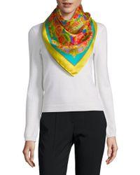 Saks Fifth Avenue - Silk Floral Neck Scarf - Lyst