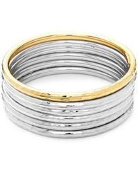 Roberto Coin - Yellow Gold & Sterling Silver Multi Bangle Bracelet - Lyst