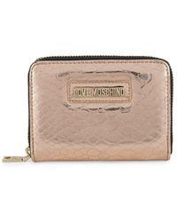 Love Moschino - Metallic Zip-around Wallet - Lyst