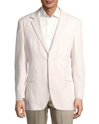 F. Faconnable - Textured Stripe Single-breasted Blazer - Lyst