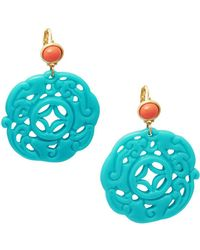 Kenneth Jay Lane - Carved Drop Earrings - Lyst