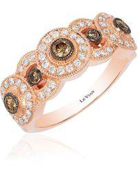 Le Vian - Chocolate Deco Vanilla Diamonds, Chocolate Diamonds & 14k Strawberry Gold Ring - Lyst