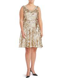 Marina - Sequined Pleated Dress - Lyst