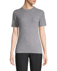 Saks Fifth Avenue - Ribbed Cashmere Tee - Lyst