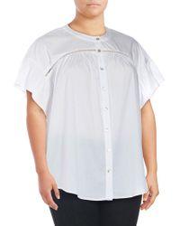 Bobeau - Plus Mckenna Poplin Shirt - Lyst