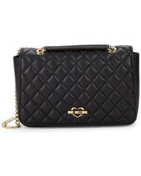 8593c6e5e18 Love Moschino Diamond Quilted Bucket Bag in Black - Lyst