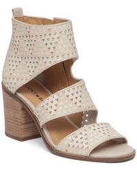 Lucky Brand - Abott Leather Strap Sandals - Lyst