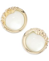 Alexis Bittar - Lucite Crystal Studded & 10k Yellow Gold Sculptural Sphere Clip-on Earrings - Lyst