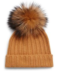 Saks Fifth Avenue - Dyed Fox Fur And Cashmere Soft Cap - Lyst