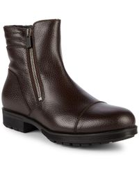 Aquatalia - Hugh Shearling-lined Leather Ankle Boots - Lyst