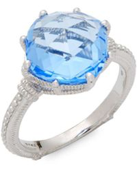 Judith Ripka - Solitaire Blue Quartz Ring - Lyst