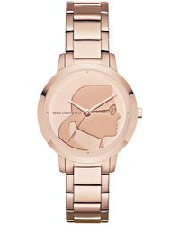 Karl Lagerfeld - Camille Stainless Steel Three-hand Bracelet Watch - Lyst