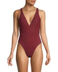 La Blanca - Sin One-piece Surplice Swimsuit - Lyst