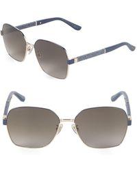 78035cdb347 Lyst - Jimmy Choo Dark Havana Paula Xl Wayfarer Sunglasses in Brown