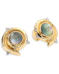 Alexis Bittar - Elements Crystal-studded & 10k Yellow Gold Earrings - Lyst